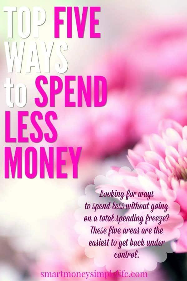 5 ways to spend less money