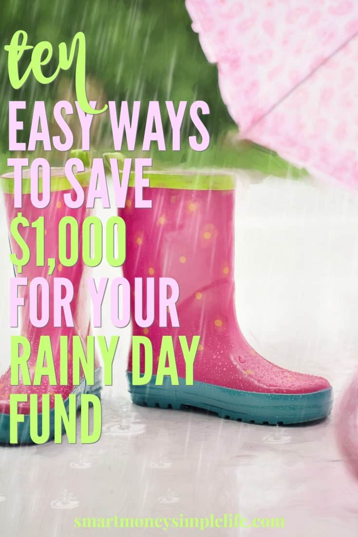 Rainy Day Fund | $1000 can seem like a lot of money. Break it down and it's a lot less daunting. $3 a day = $1000+ per year. Grab a jar and start saving!