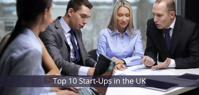 Countdown of the top 10 Start-Ups in the UK