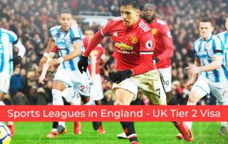 How do you go to play for one of the sports leagues in England? Tier 2 Visa UK