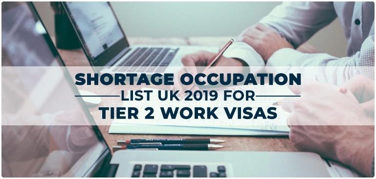 Shortage Occupation List of UK, 2019