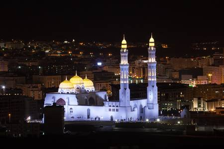 52375581-mosque-in-muscat-illuminated-at-night-sultanate-of-oman-middle-east