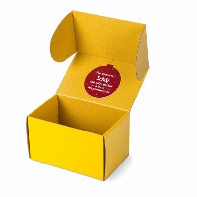 boite carton personnalisée impression intérieure Schär