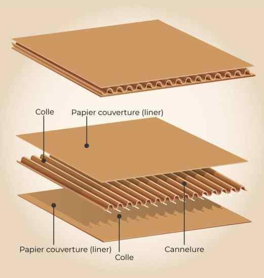 fabrication du carton ondulé pour emballage