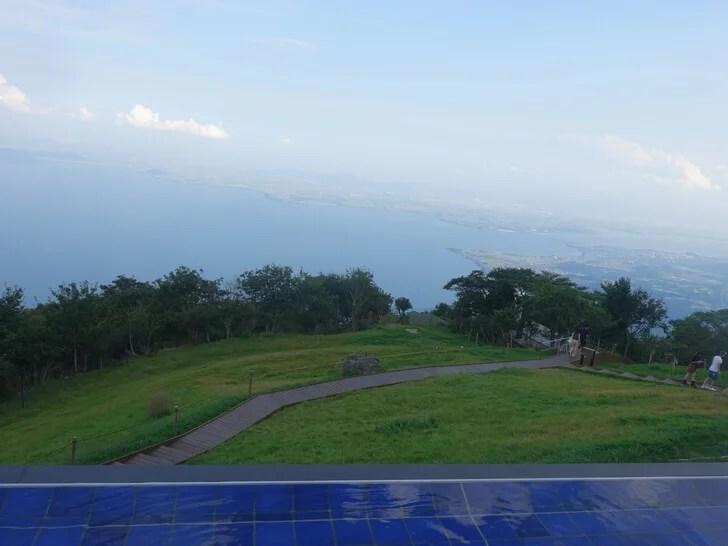 びわ湖テラス空眺めた景色の写真
