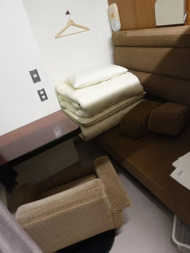 トレインホステル北斗星の2段ベッドの写真