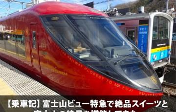 【乗車記】富士山ビュー特急で絶品スイーツと富士山の絶景を堪能してきた