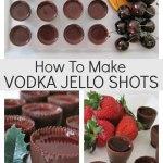 How to make vodka jello shots