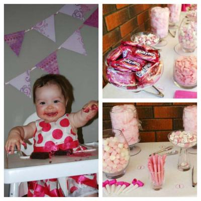 Pink Themed 1st Birthday Party