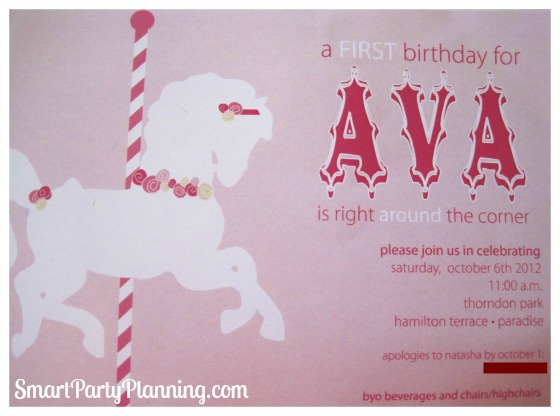 Carousel Birthday Party – Carousel Party Invitations