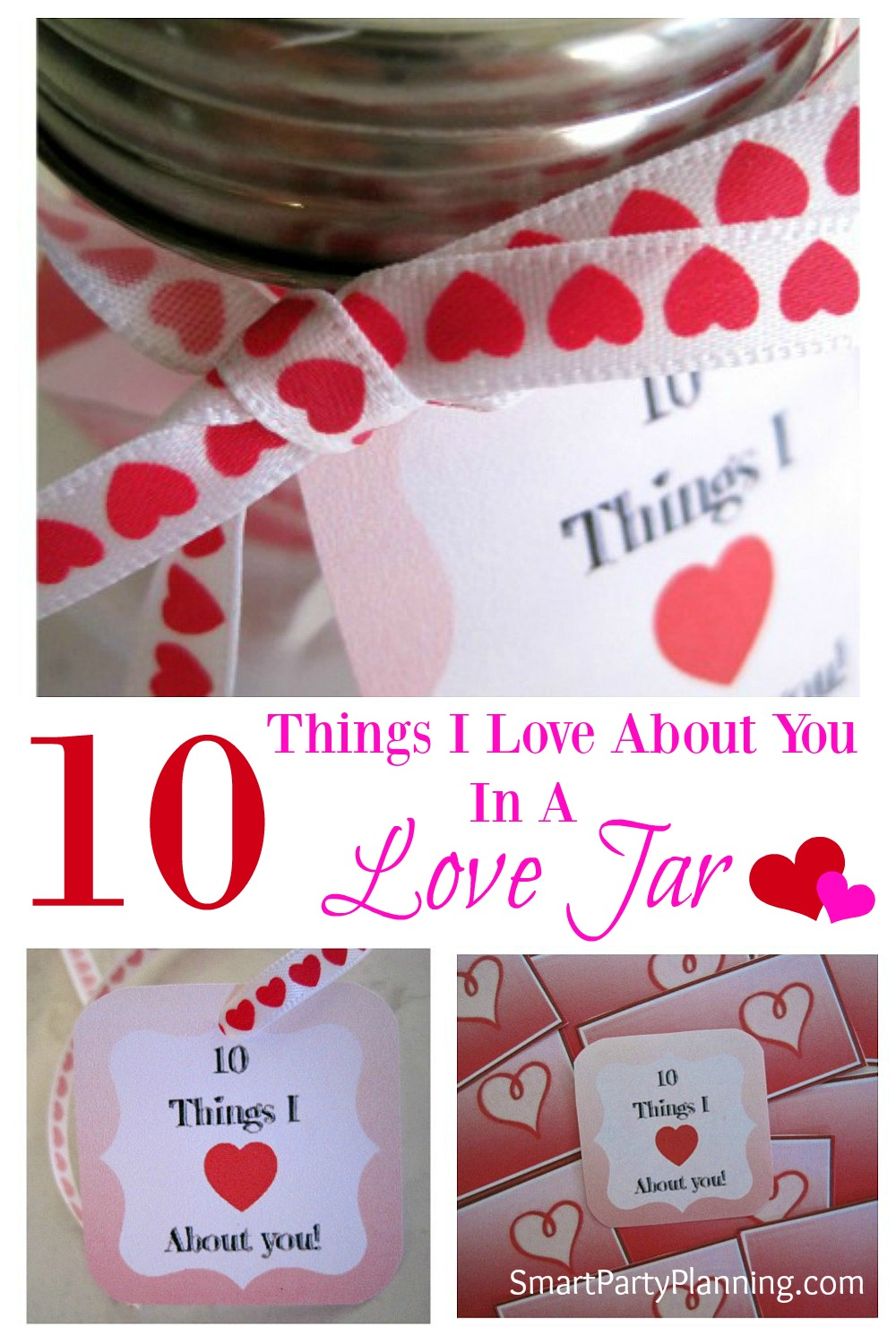 Show someone you care by filling a love jar with 10 things you love about them. Download the printable to start your awesome Valentine's gift.
