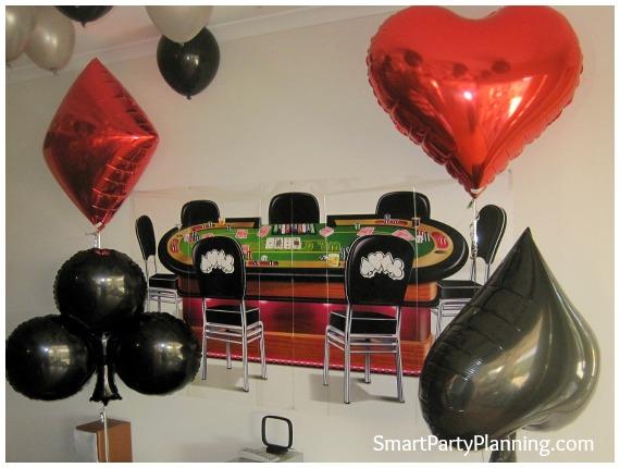 Casino style helium balloons