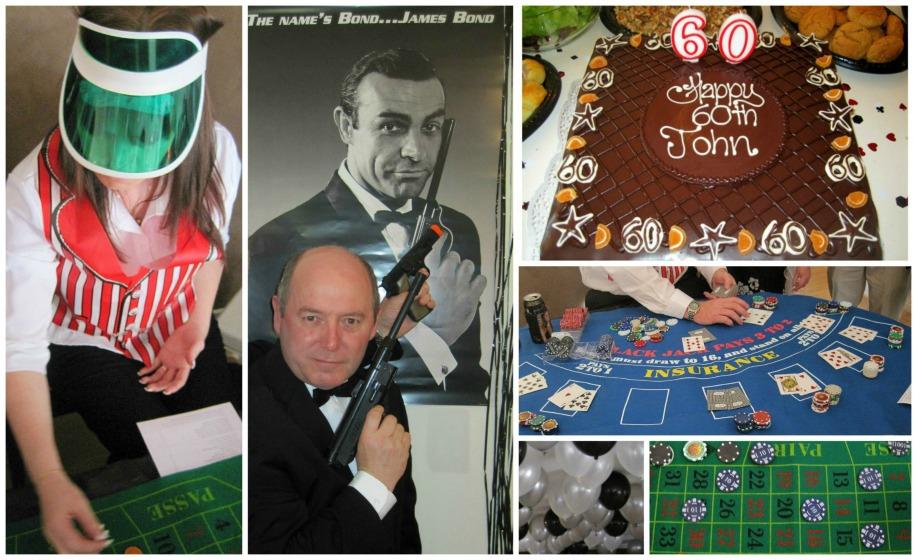 James Bond Theme Party collage