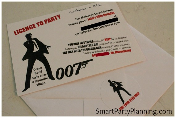 James Bond Theme Party Invitation