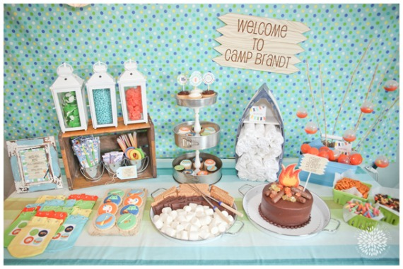 Boys Birthday Party Ideas Camping Party