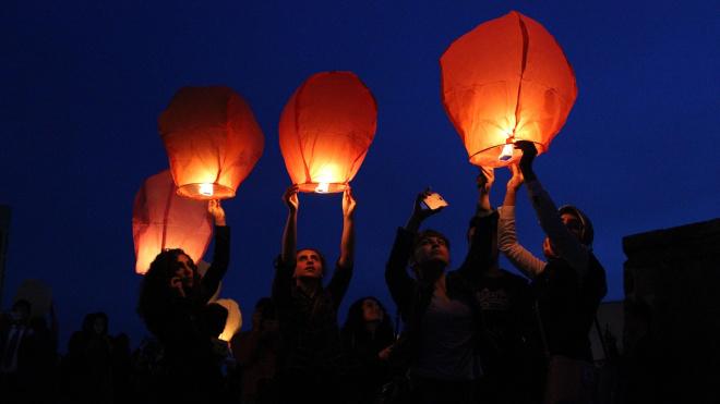 flying lantern ceremony
