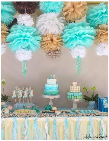 Mermaid Party Ideas Dessert Table