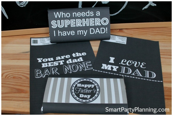 Chocolate bar wrappers - chalkboard