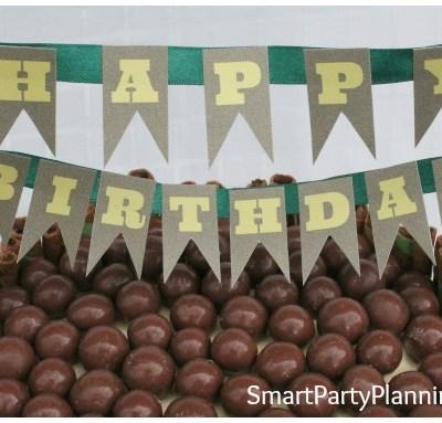 Malteser Cake with FREE Birthday Cake Banner