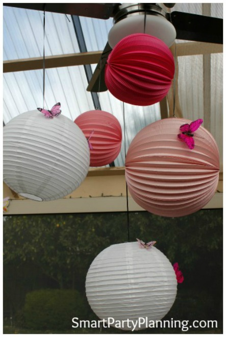 Butterfly Theme Party Paper Lanterns