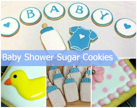 Baby shower sugar cookies