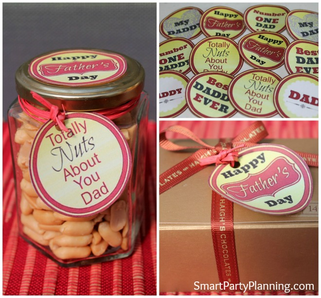 Retro Fathers Day Gift Tags