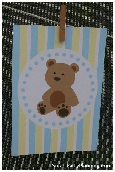Teddy Bear Baby Shower Banner