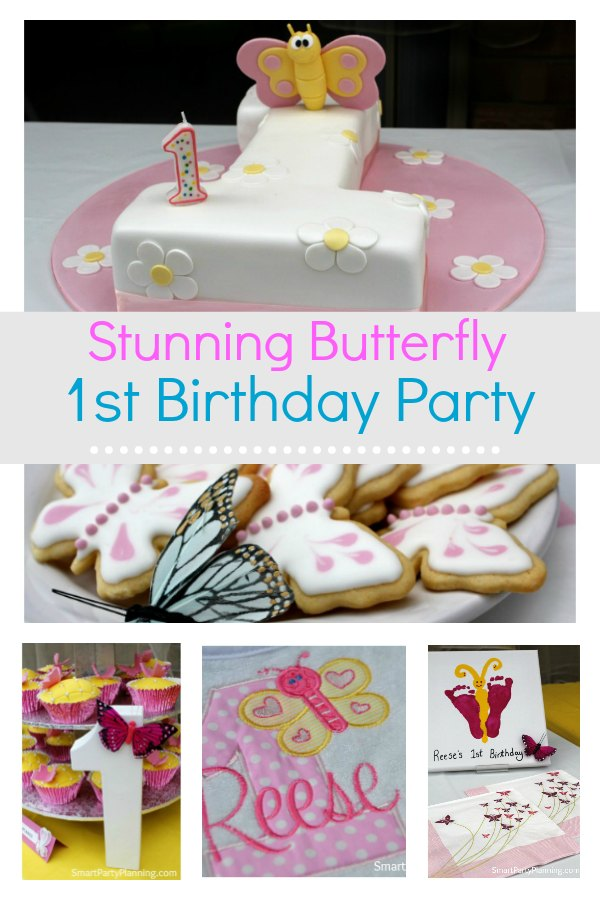 Easy to create butterfly theme party, perfect for a 1st birthday or baby shower. These ideas are easy to recreate and are fun for everyone involved. With simple decoration, a party to remember is easier to create than you might think. #Butterfly #Party #Girls #Decoration #Simple #1stbirthday #Babyshower