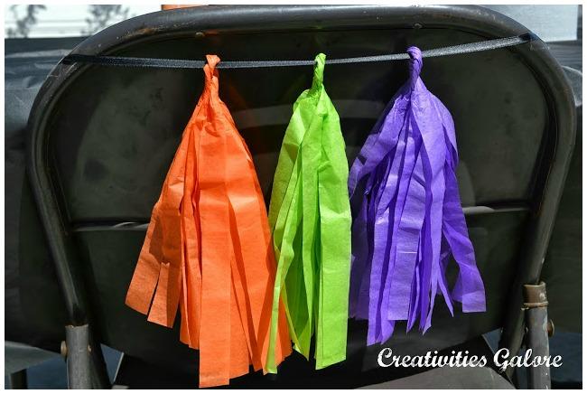Halloween Tissue Paper Tassels