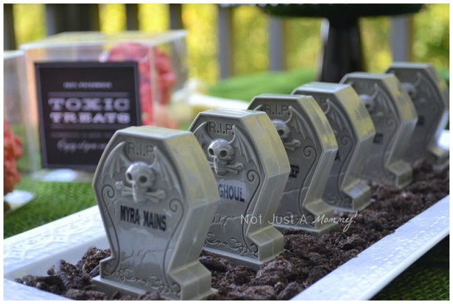 Halloween tombstone treats