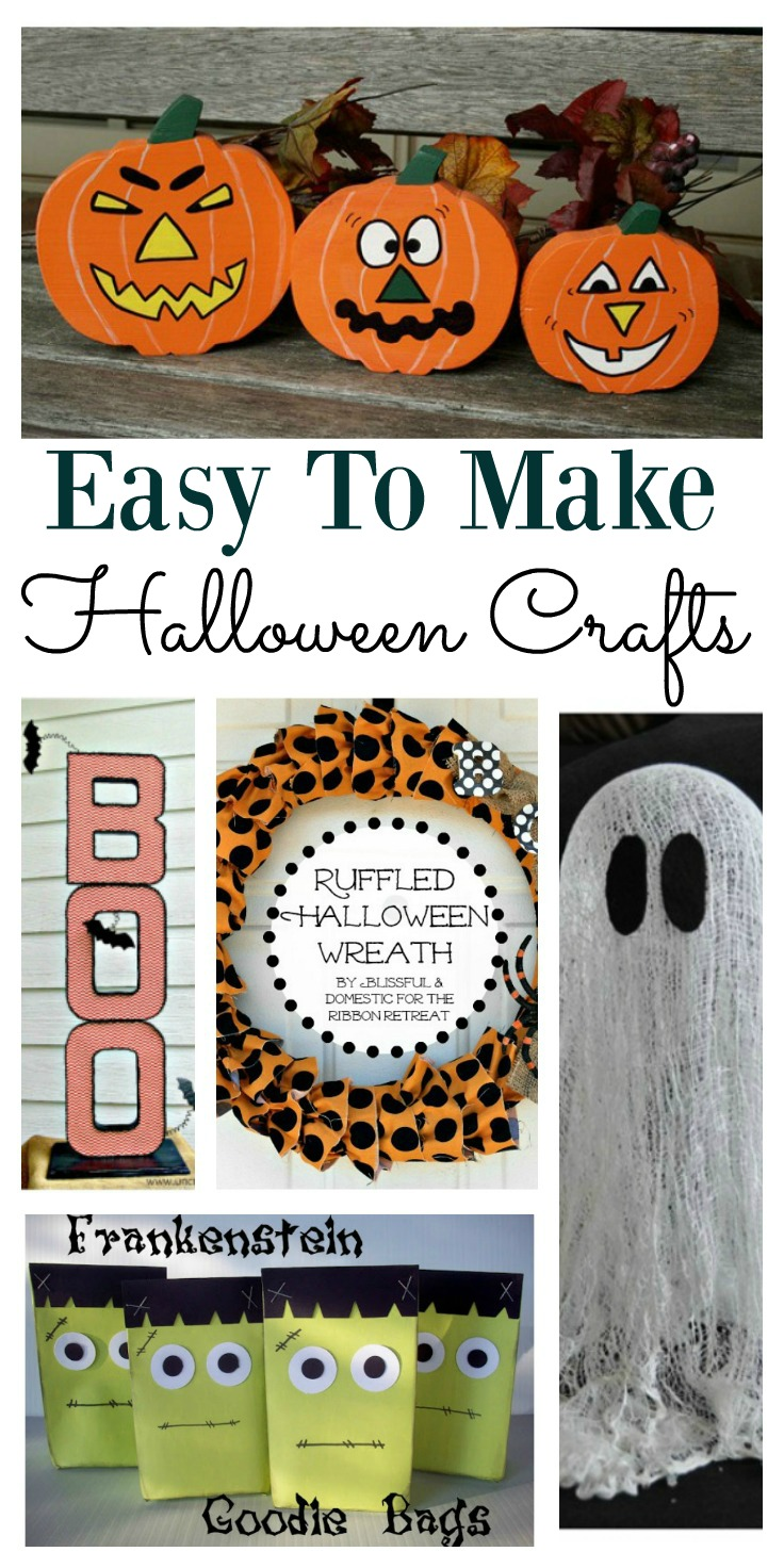 5 quick Halloween crafts for kids to make.  This selection of crafts are fun and easy to make and perfect for preschooler or older kids.  These Halloween ideas will help keep the kids minds away from sugar and candy for a while.