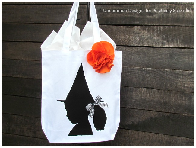 Silhoutte Halloween treat bags