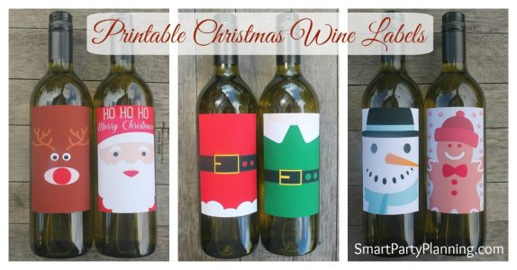 Christmas Wine Labels