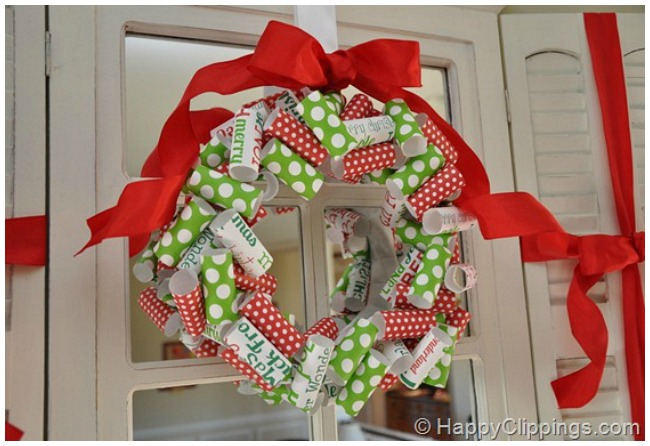Paper Christmas Wreath Ideas.How To Easily Make Your Own Awesome Christmas Wreaths