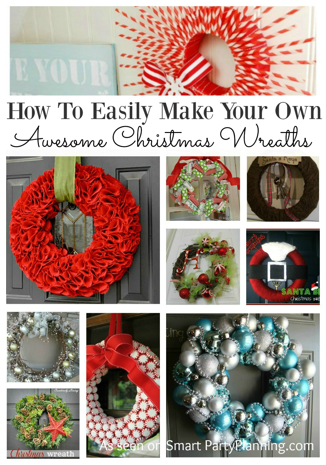 Have you ever wanted to make a Christmas wreath, but stuck on where to start? These 10 DIY wreaths are amazing and each one has an easy to follow tutorial. With designs to suit all including rustic, natural, modern and burlap, you will easily find one for your front door. If you are looking for an enjoyable Christmas craft this is it!