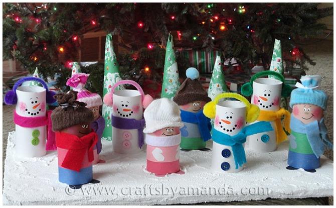 Snowmen Christmas Crafts For Kids