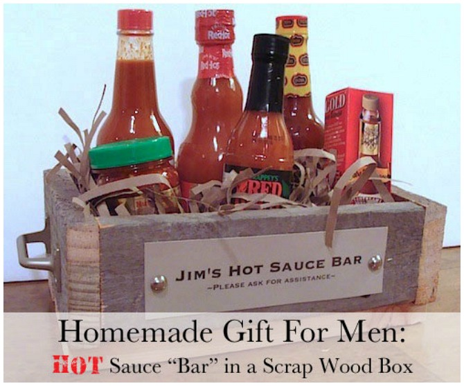Handmade Christmas gifts hot sauce pack