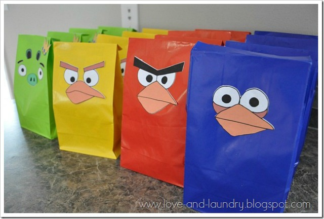 Angry Birds Favor Bags
