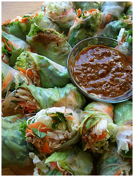 Spring roll healthy appetizers