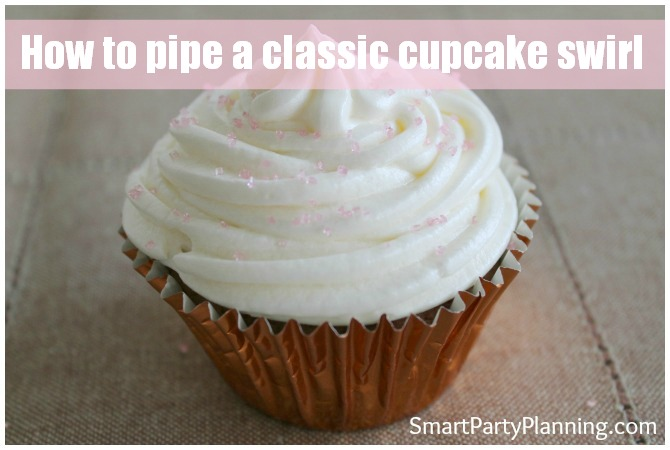 How to pipe a classic cupcake swirl