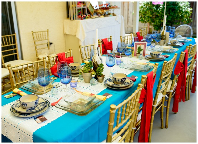 Mexican Theme Party Table Display