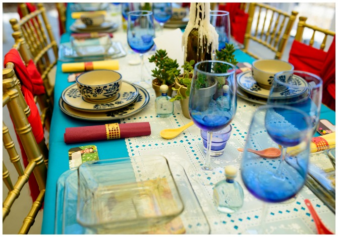 Mexican Theme Party Table Setting