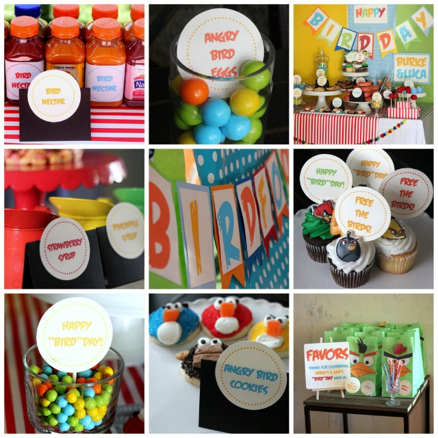 Bright and bold Angry Birds Party