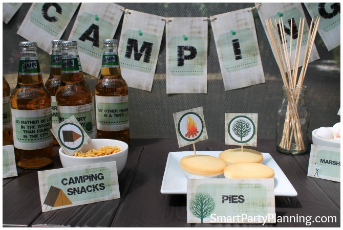 Camping Party Printable Set
