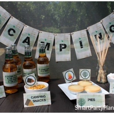 Create the Best Camping Party With Easy Printables