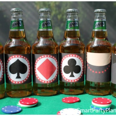 Beer Labels For A Casino Theme Party