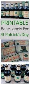 Homebrew beer labels for St Patricks day