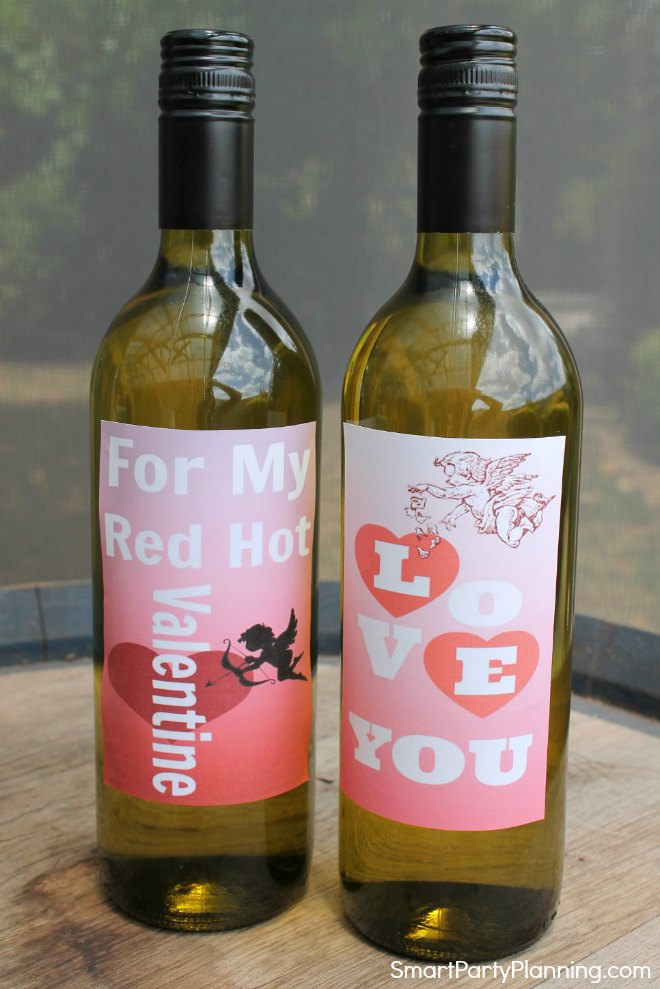 photograph relating to Printable Wine Labels known as Printable Valentine Wine Labels Your Guy Will Certainly Get pleasure from