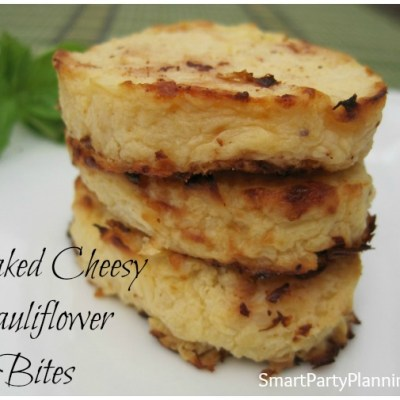 Baked Cheesy Cauliflower Bites