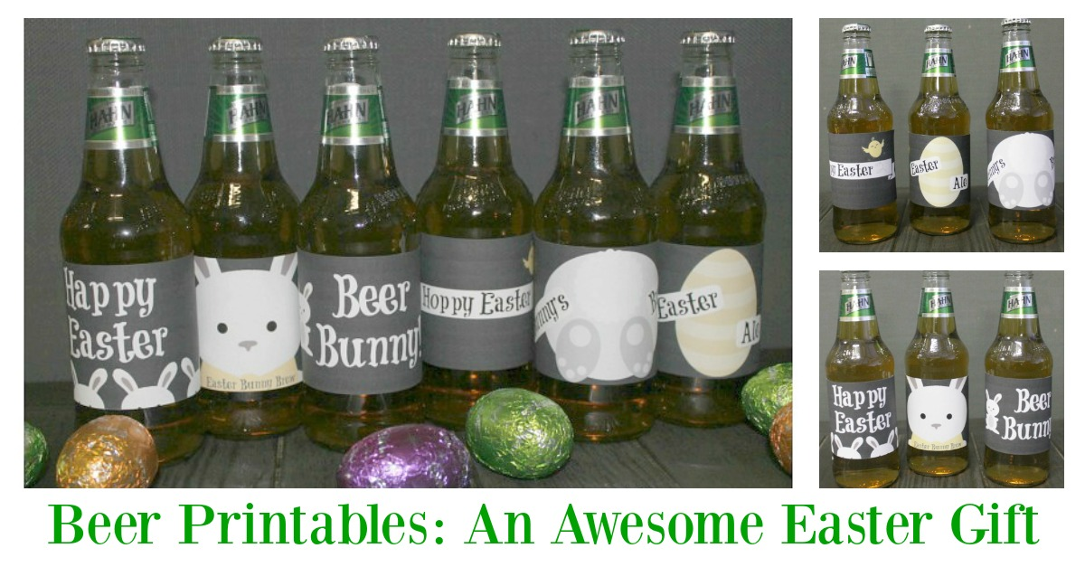 Printable beer labels make a perfect DIY Easter gift for those wanting to avoid chocolate this Easter!  If you are stuck for some gift ideas for your man, then these could be just the thing you are looking for.  They are easy to use and look fantastic on his favorite 6 pack!